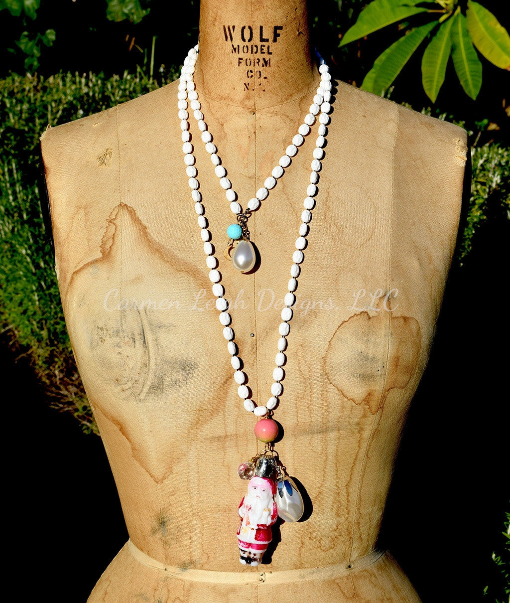 Santa Bohemian Vintage Double Wrap Necklace