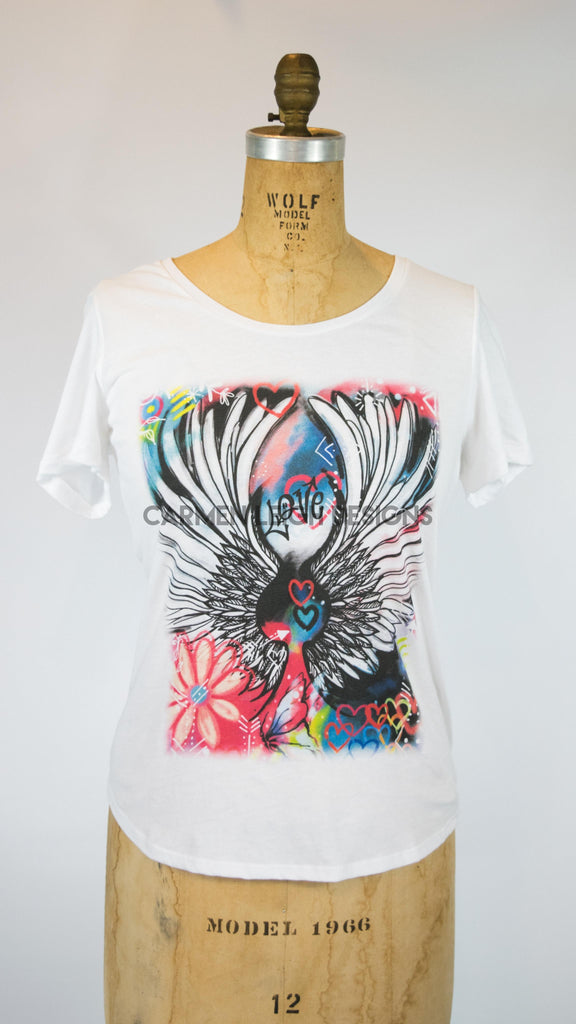 """Angel Love Graffiti""  Bespoke Tee"