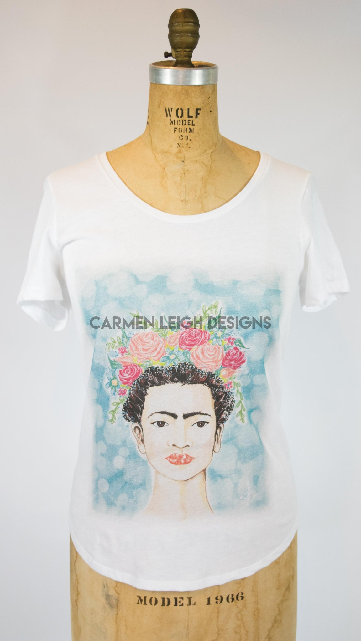 """Frida with a Flower Crown"" Bespoke Tee"