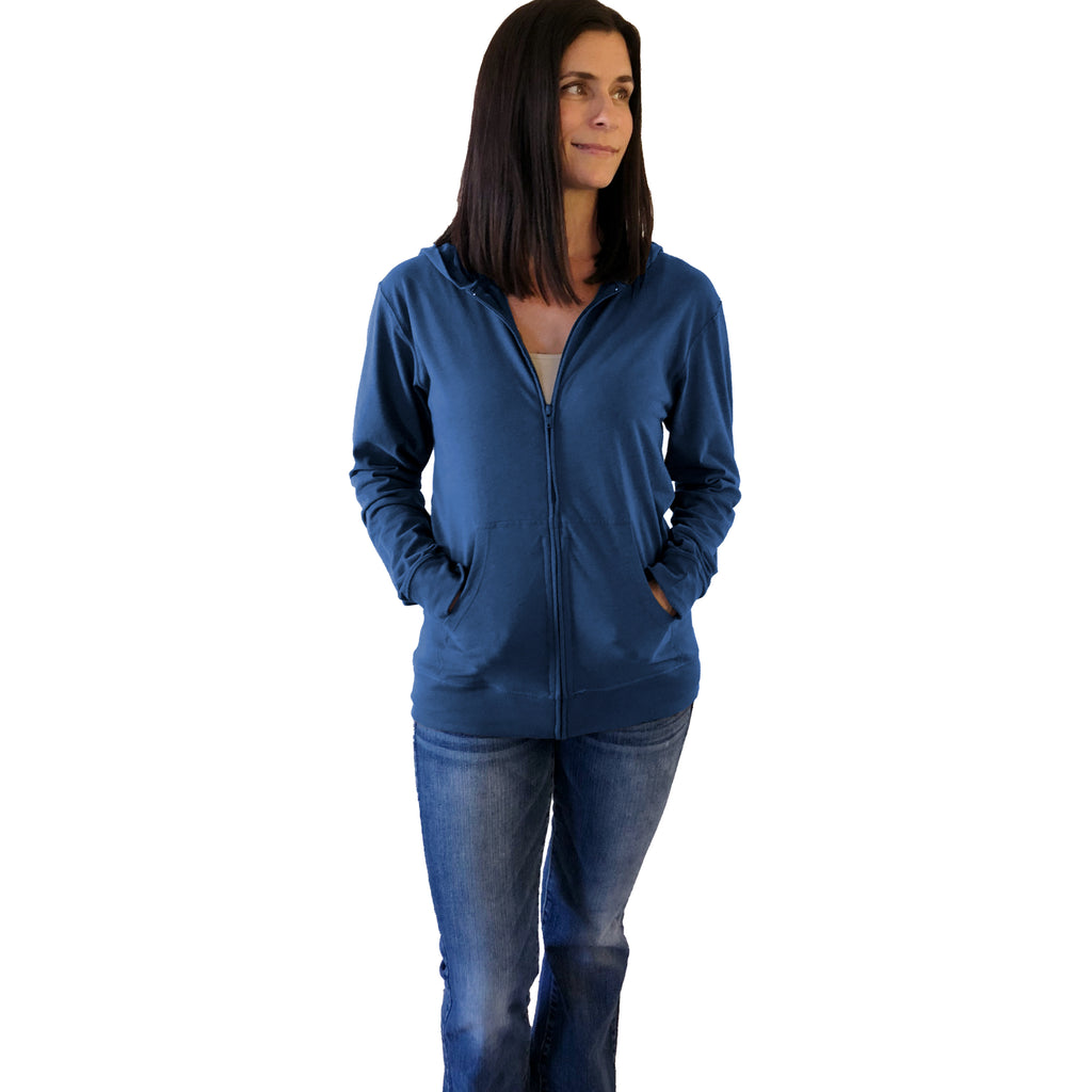 Soft Blue surgery hoodie