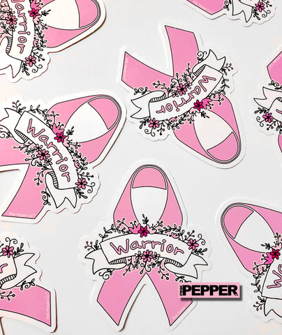 Pink Ribbon Stickers | Breast Cancer Awareness