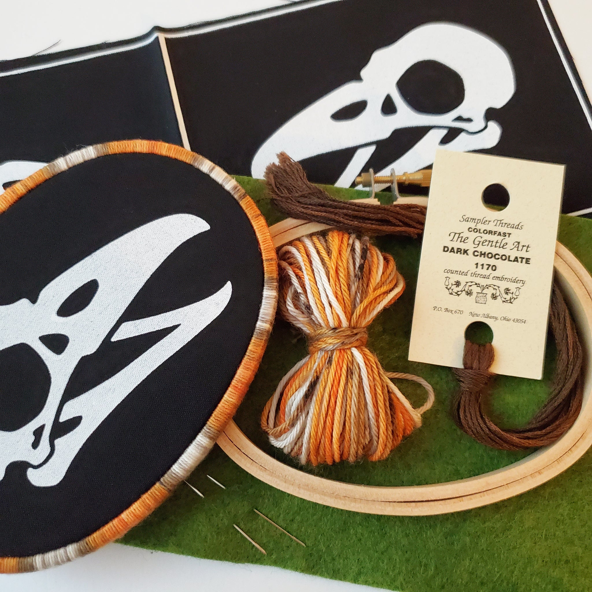 DIY Oval Bird Skull Bundle