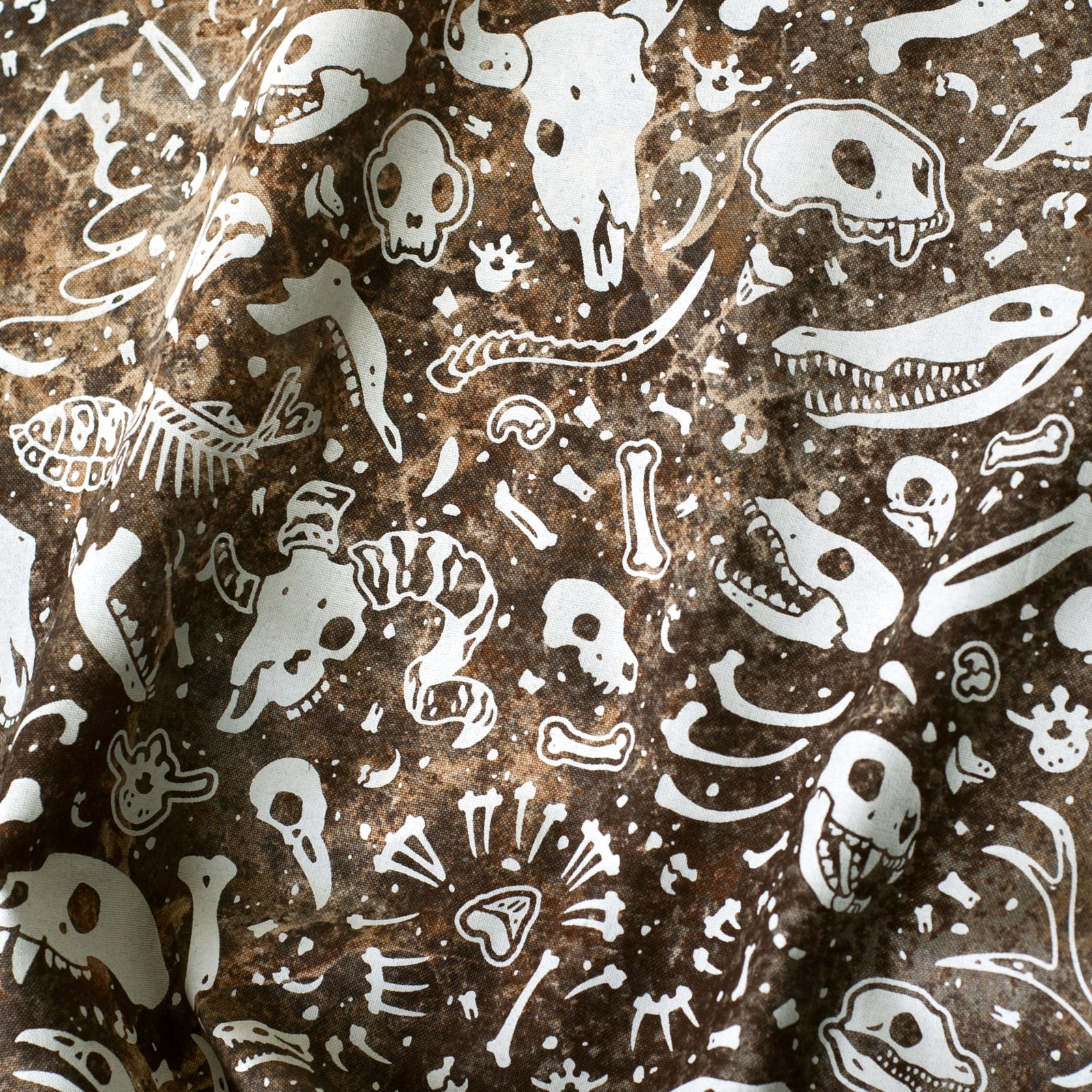 Animal Bones Fabric - Earthen