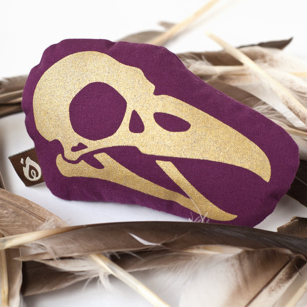 Bird Skull Mini Pillow