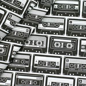 Cassette Tape Collection Fabric