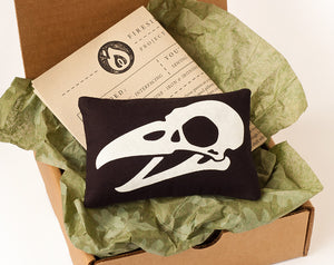 Bird Skull Mini Pillow Stitch Kit