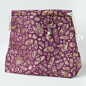 Purple Quartz Crystals Project Bag