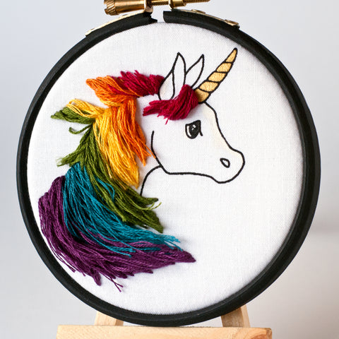 Unicorn with Rainbow Mane
