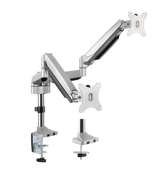 "Dual Monitor Height Adjustable Gas Spring Desk Mount Stand Fits 10""-29"" LCD LED Monitors ! Aluminium material Heavy duty"