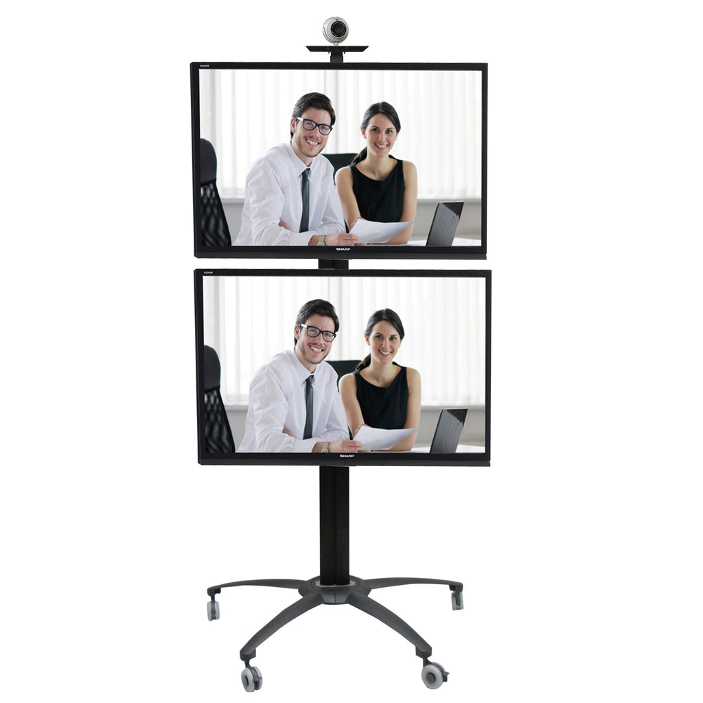 LCD Dual TV Floor Stand Vertical (UPC2V)  - 1