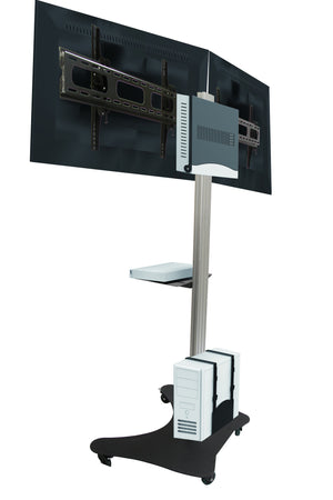 LCD Double TV Floor Stand Trolley (UPT2)  - 2