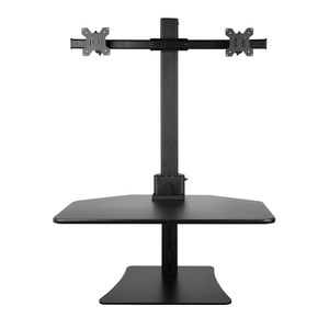 Height Adjustable Standing Desk for Dual Monitors ( Vertical movement , small footprint)