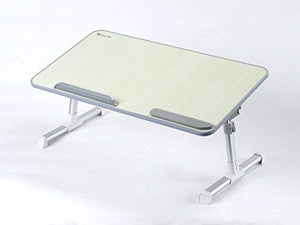Adjustable Laptop Table, Portable Standing Bed Desk, Foldable Sofa Breakfast Tray, Notebook Stand Reading Holder for Couch Floor