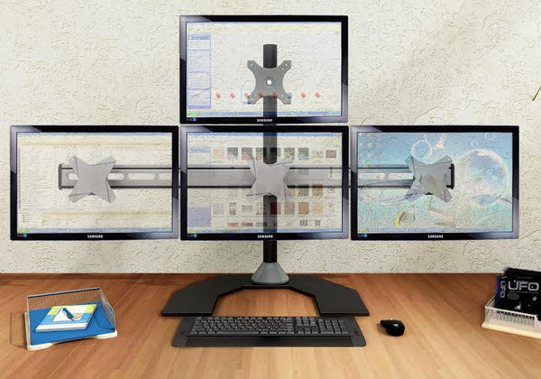 Four Monitor Stand - Freestanding & Horizontal (4MS-FH)  - 3