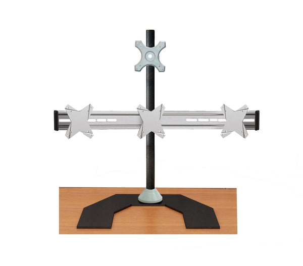 Four Monitor Stand - Freestanding & Horizontal (4MS-FH)  - 4
