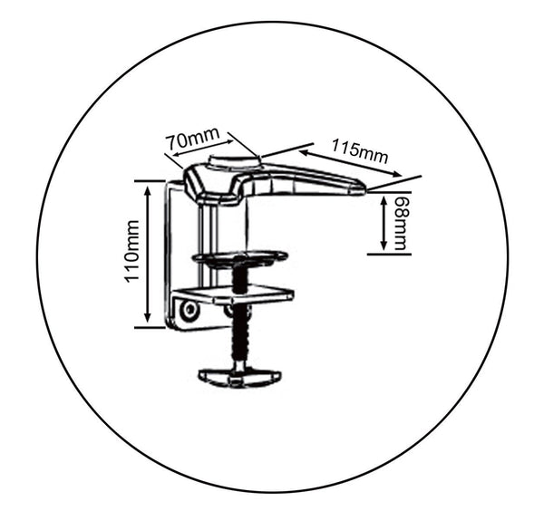 Spring LCD Monitor Stand - Clamp Type (LMS-CT) - S  - 16