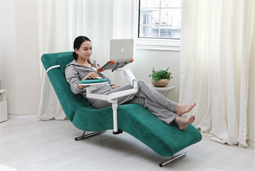 Ergonomic Recliner Chair With Laptop And Tablet Arms (EC04)   ...