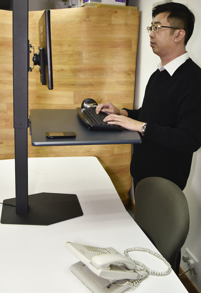 Electric Desktop Sit Stand Converter RE  - 13