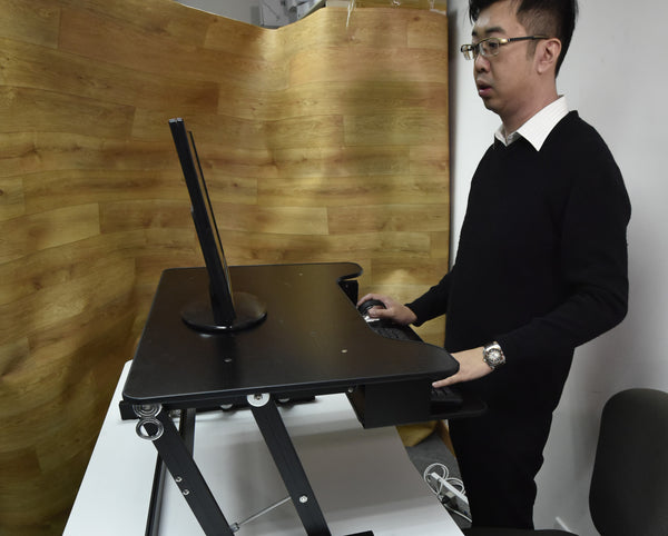 Touch Standing Desk Converter  (with Gas spring) RT  - 25