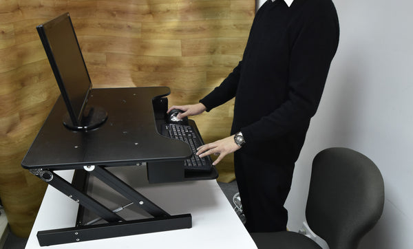 Touch Standing Desk Converter  (with Gas spring) RT  - 27