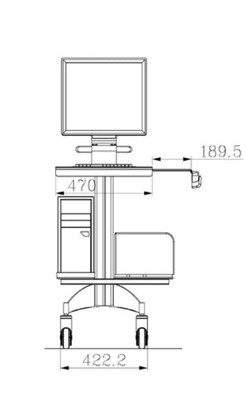 Medical Cart For LCD / All in One (HSC15)  - 2