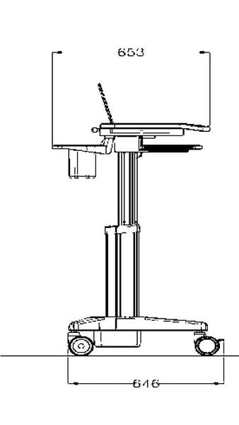 Medication Cart for Laptop (HSC04B)  - 2