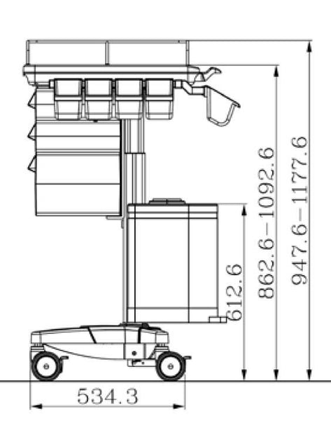 Medical Cart For LCD / All in One (MC-N3)  - 4