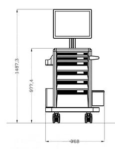 Medical Cart For LCD / All in One (HSC18B)
