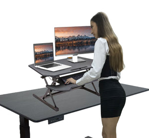 Deluxe size (975 mm) Big Vertical Moving sit stand converter