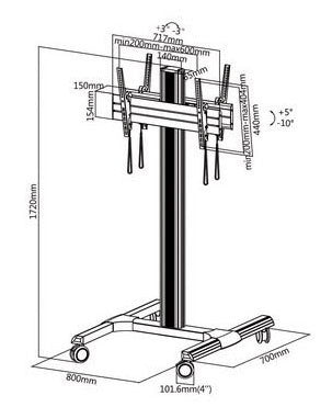 LCD TV Floor Stand (UPC1)  - 4