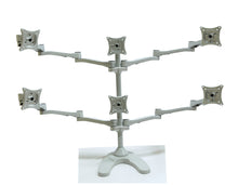 Six Monitor Stand (Freestanding with Wider Arms) - (E6-FW)  - 2