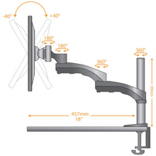 LCD Monitor Clamp Arm LMS-CTB  - 2