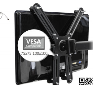 "Non VESA Mount Adapter Bracket Supports (13 to 27 inch) Monitors with  Thickness from 1"" to 1.5"" and Weight upto 8 kg to Fix on Brackets"