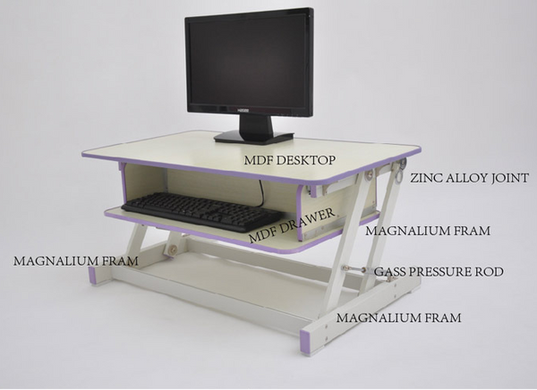 Touch Standing Desk Converter  (with Gas spring) RT  - 20