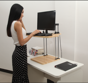 Adjustable Sit to Stand Standing Desk On Top Of Your Existing Desk  - 2