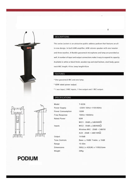 Podium for offices and schools  - 2