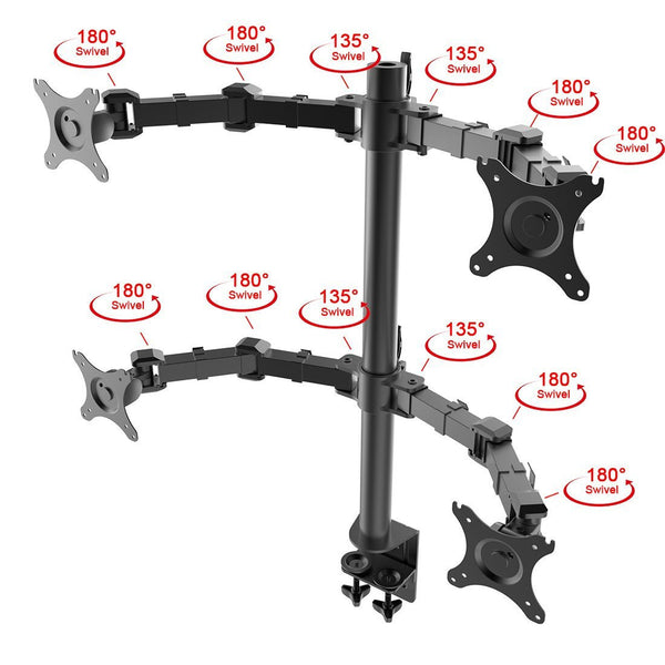 Quad arm desk mount stand (model RC4)  - 5