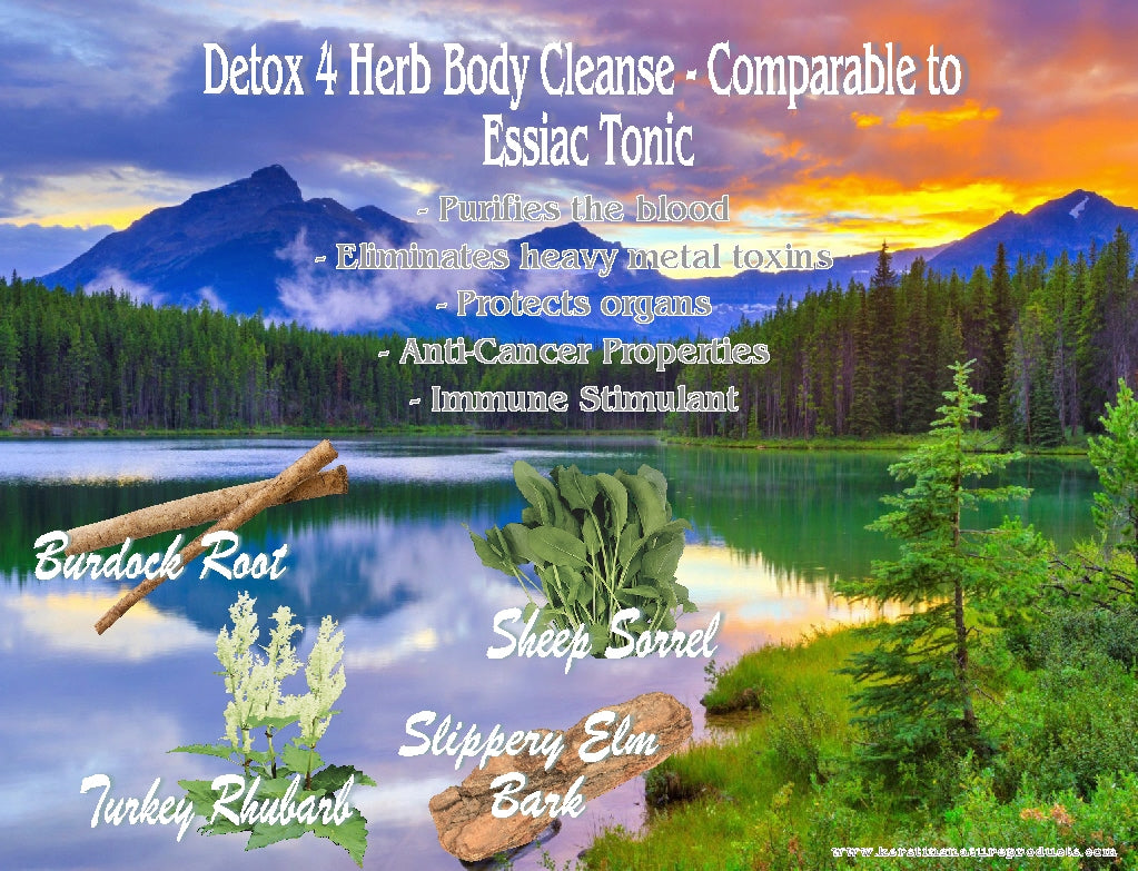 Health Benefits of  Detox 4 Herb Body Cleanse -  Comparable to Essiac Tonic