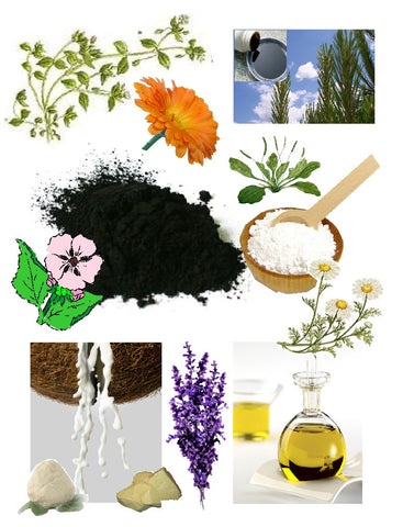 black drawing salve ingredients - kerstins nature products
