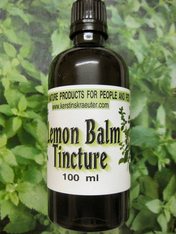 lemon balm tincture - Kerstin's Nature Products