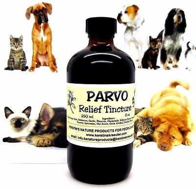 Parvo Relief Herbal Tincture For Dogs/Puppies ~ Multiple Sizes - Kerstin's Nature Products