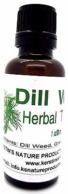 Dill Leaf Herbal Tincture Extract ~ Multiple Sizes - Kerstin's Nature Products