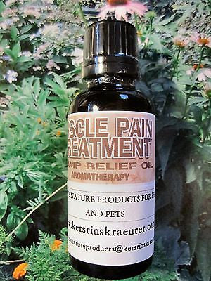 MUSCLE PAIN TREATMENT OIL ~Multiple Sizes - Kerstin's Nature Products