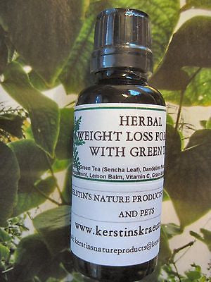 Herbal Weight Loss Formula With Green Tea And Herbs ~Multiple Sizes - Kerstin's Nature Products
