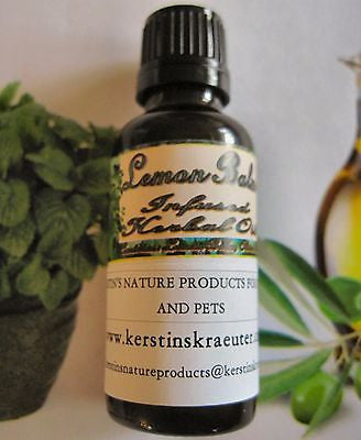 Lemon Balm Infused Herbal Oil ~Multiple Sizes - Kerstin's Nature Products