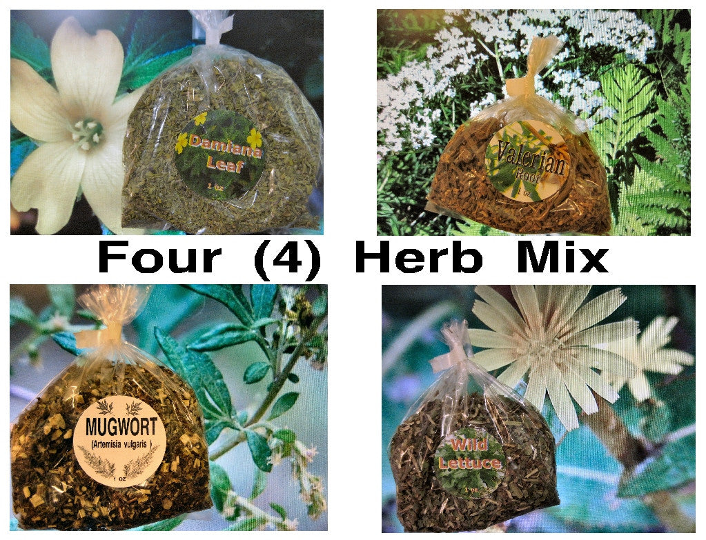 Wild Lettuce, Damiana, Mugwort, Valerian - Relax Herb Mix - Kerstin's Nature Products