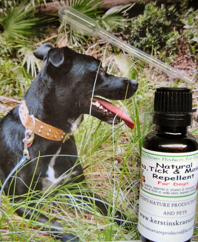 Natural Flea, Tick and Mosquito Control Remedy for Dogs ~ Multiple Sizes - Kerstin's Nature Products