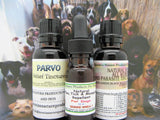 Dog Health Care Kit - Parvo Tincture + Herbal Allwormer + Flea Remedy = 3 Bottles
