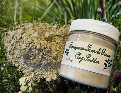European French Green Clay Powder ~Multiple Sizes - Kerstin's Nature Products