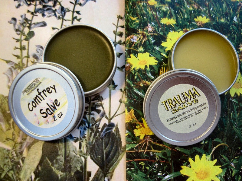 Comfrey and Trauma Salve Set 2 oz each - Kerstin's Nature Products